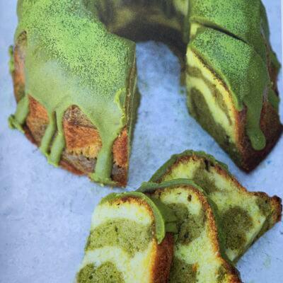 Marbled matcha cake